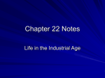 Chapter 22 Notes - Martin`s Mill ISD