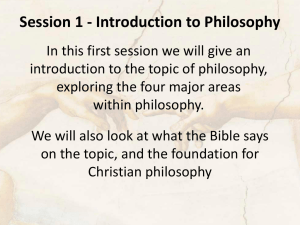 Session 1 – Introduction to Philosophy