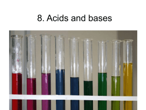 8. Acids and bases