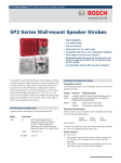 SP2 Series Wall‑mount Speaker Strobes