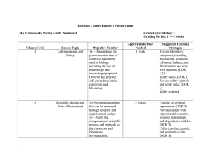 Biology Pacing Guide 2010