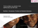 The Global Alliance for Improved Nutrition