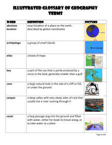 Illustrated Glossary of Geography Terms word definition picture
