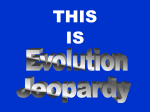 Evolution Jeopardy