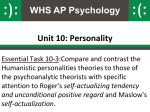 Humanistic Theories of Personality PowerPoint