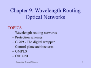 Chapter 9: Wavelength Routing Optical Networks