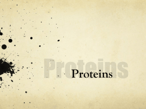 Proteins - RMC Science Home