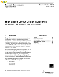 High Speed Layout Design Guidelines This application note