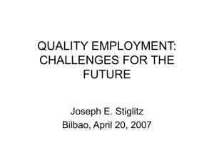 QUALITY EMPLOYMENT: CHALLENGES FOR THE FUTURE
