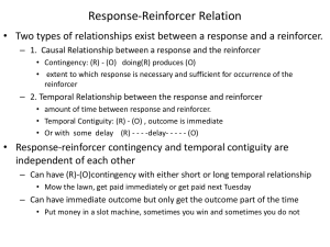 conditioned reinforcer
