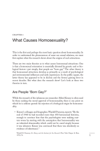 What Causes Homosexuality?