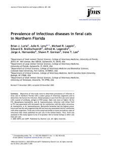 Prevalence of infectious diseases in feral cats in Northern Florida