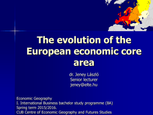 The evolution of the European economic core area