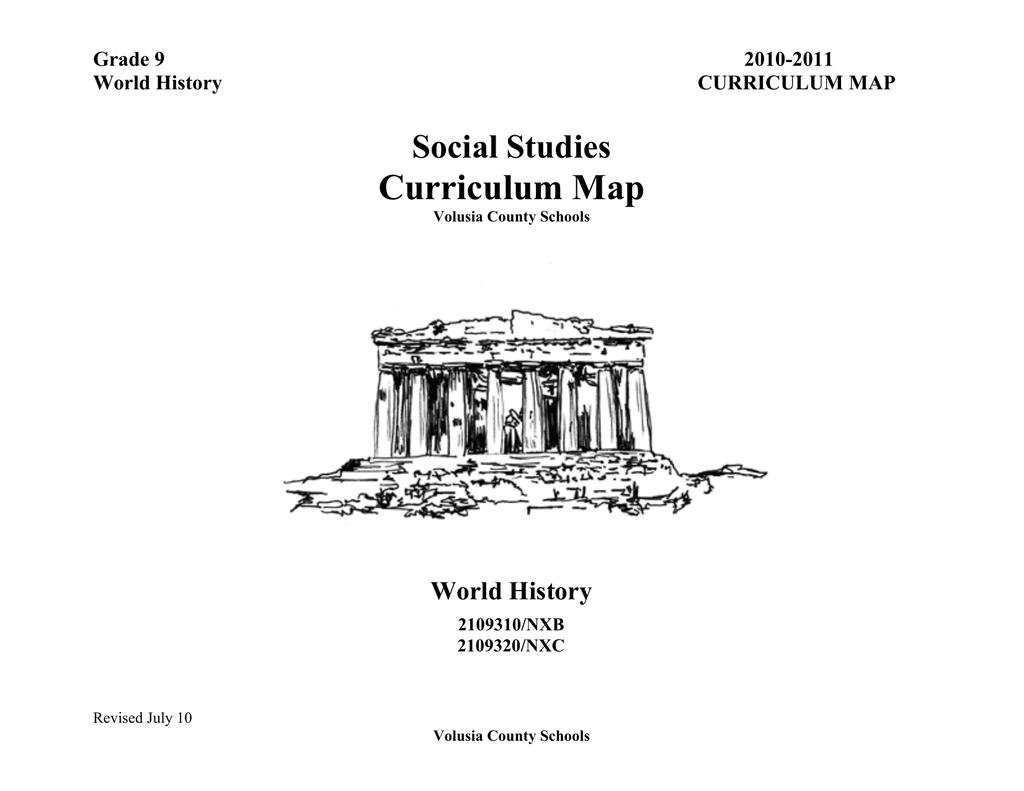 Curriculum Map - Volusia County Schools