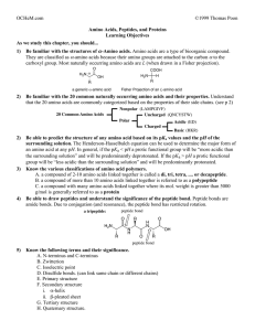 OCHeM.com ©1999 Thomas Poon Amino Acids, Peptides, and