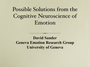 Possible Solutions from the Cognitive Neuroscience of Emotion