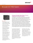 Brocade ICX 7450 Switch Data Sheet