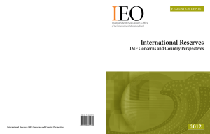 International Reserves - Independent Evaluation Office (IEO)