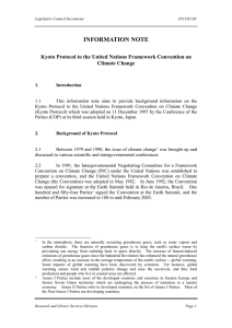 Kyoto Protocol to the United Nations Framework Convention on