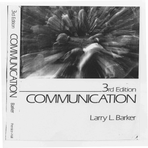 L Barker, Communication, Chap#4