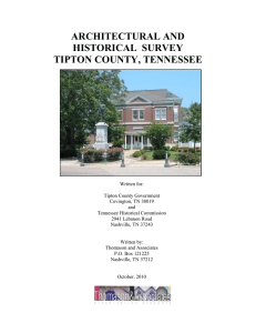architectural and historical survey tipton county