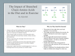 Branched Chain Amino Acid
