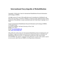 International Encyclopedia of Rehabilitation - Cirrie