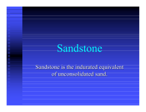 Sandstone - Department of Geology UPRM