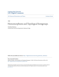 Homomorphisms and Topological Semigroups.