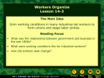Lesson 14-3: Workers Organize