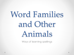 Spelling word families