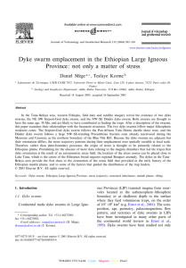 Dyke swarm emplacement in the Ethiopian Large Igneous Province