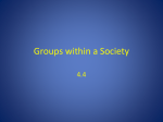 Groups within a Society