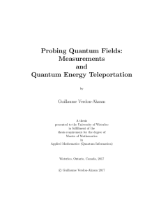 Quantum Energy Teleportation - UWSpace