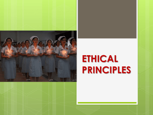 The primary ethical principles
