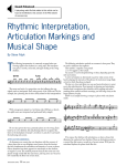 at www.pas.org. rhythmic interpretation, Articulation