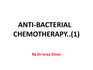 2. Anti bacterial chemotherapy