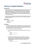 Activity 3.5 Applied Statistics