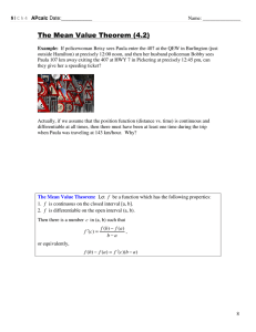 The Mean Value Theorem (4.2)