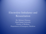 Electrolyte Imbalance and Resuscitation