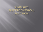 SUMMARY: Electrochemical Reaction.