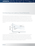 Architecting Low Latency Cloud Networks