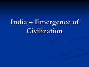 India – Emergence of Civilization