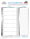 Food Group Meal Planner - PEIA Pathways to Wellness