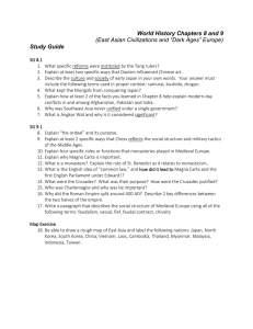 "(East Asian Civilizations and ""Dark Ages"" Europe) Study Guide"