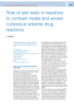 Role of skin tests in reactions to contrast media and severe
