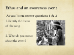 Ethos and an awareness event