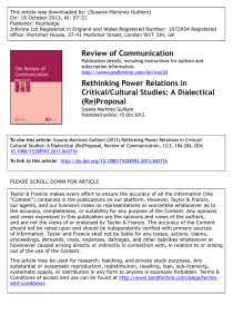 Rethinking Power Relations in Critical/Cultural Studies: A Dialectical