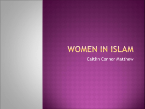 Women In Islam - Elgin Academy
