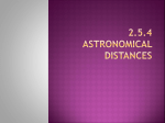 2.5.4 astronomical distances Parallax and Distances to Stars